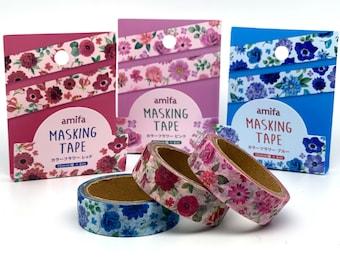 Floral Pattern, Washi Tape/Masking Tape 15mm x 6M