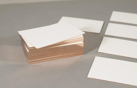 Visitenkarten Neutral Kupfer Folienschnitt 50 Stüc