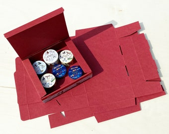 "Plano Box ""red"" artificial cardboard"