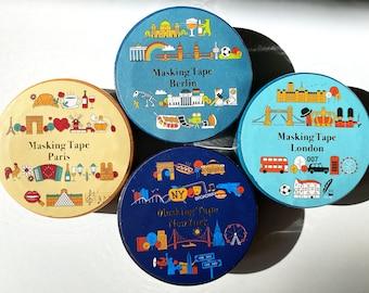 City Tapes , Washi Tape/Masking Tape 7M x 15 mm