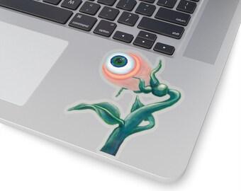 Venus Eyesnap by Vicki Noble Diecut or Kiss-Cut Stickers Sci Fi Sentient Flower Surreal plant fantasy