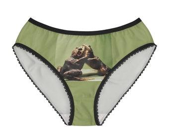 Hugging or Wrestling Frogs Women's Briefs Panties Undies Underwear Skivvies
