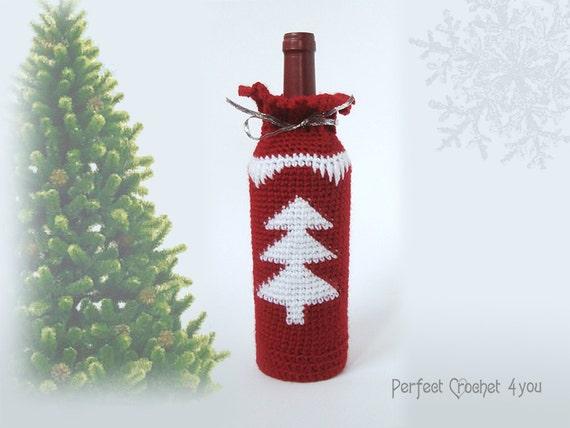 Crochet pattern Unique Christmas gift Wine bottle holder | Etsy