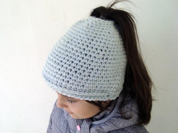 Chaotisch Brötchen Hut für Läufer hellblau Pferdeschwanz-Mütze   Etsy
