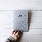 2019 Planner | 2019 Diary with monthly view | A5 size monthly Planner | 2019 Agenda