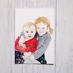 Children portrait | Nursery Wall Art | Kids Portrait in watercolour