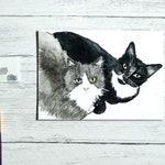 Cat portrait painting | Custom pet portrait | Pet Illustration | Personalised pet portrait | Watercolour illustration