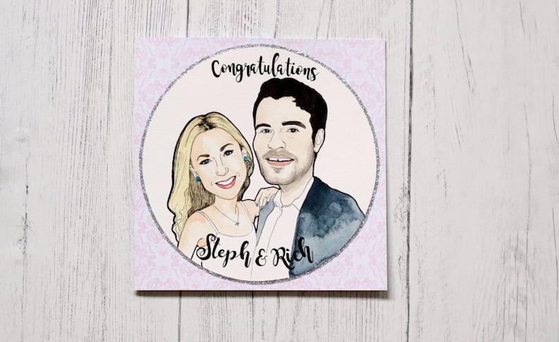 Wedding portrait illustration  Couple Illustration  Custom image 0