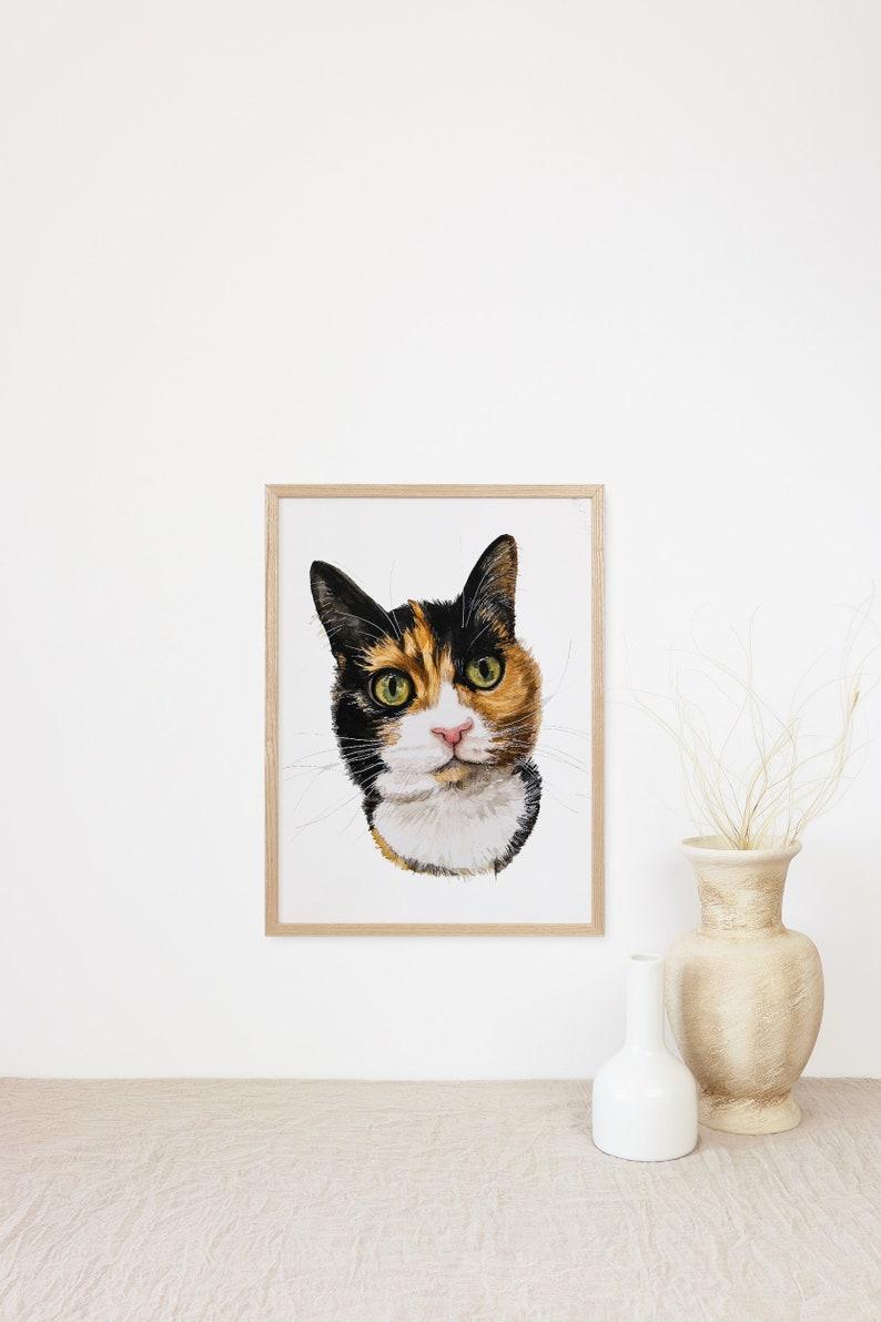 Cat Portrait Painting Cat Drawing Cat Watercolour image 0
