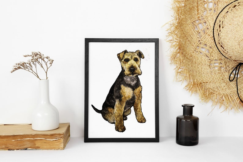 Custom Dog Portrait Dog Watercolour Custom Pet Portrait Pet image 0