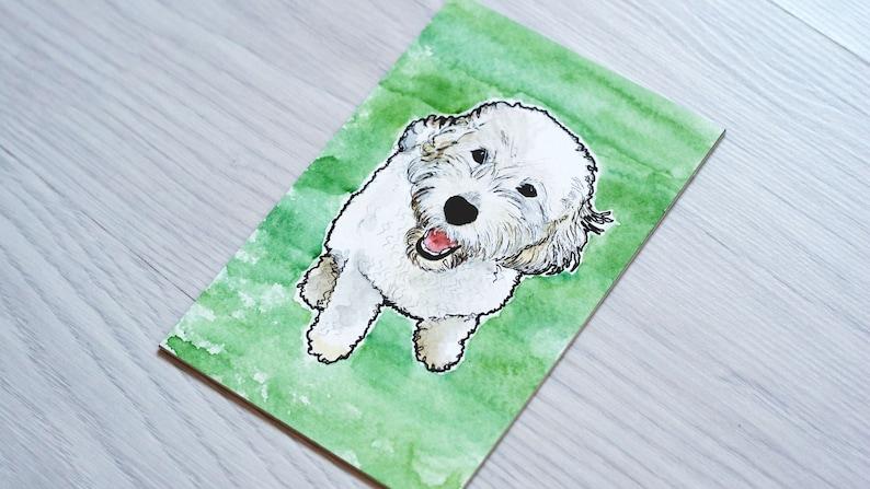 Custom Dog Painting Pet Watercolour Portrait Dog Portrait Custom Pet Portrait