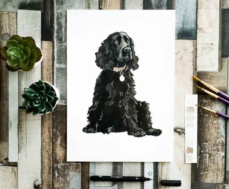 Custom Dog Portrait  Dog Watercolour  Custom Pet Portrait  A4 - Pet only