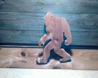 Big Foot wood cut out