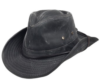 Indy Weathered Shapable Outback Hat Chin Cord a57b6a98cddc