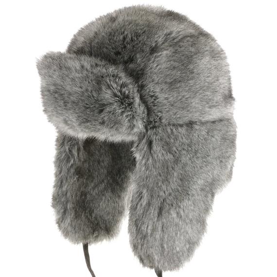 5d1d22a4fec Huskie Ushanka Soft Faux Fur Trapper Winter Hat Ear flaps Men