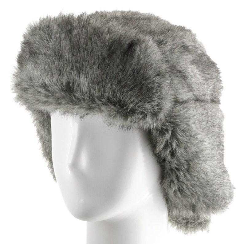 b35ab637113aa Huskie Ushanka Soft Faux Fur Trapper Winter Hat Ear flaps Men | Etsy