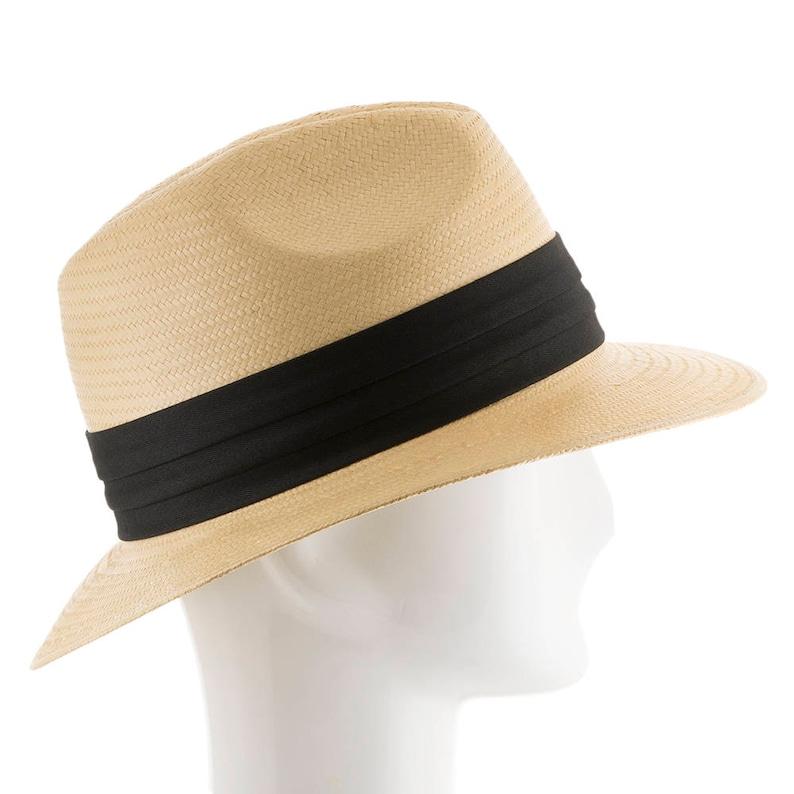 Ultrafino Monte Cristo Fedora Straw Panama Hat NATURAL  1c3f525da04