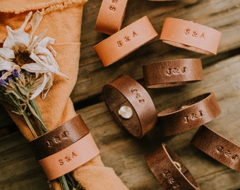 Leather Napkin Rings / Leather Napkin Tie / Leather Napkin Ring For Wedding / Leather Napkin Ring Set / Leather Napkin Holder / Boho Wedding