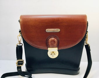 57d4d695b0 Vintage Ralph Lauren 2 Tone Shoulder Bag