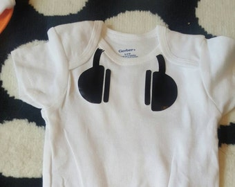 Headphone gerber onesie