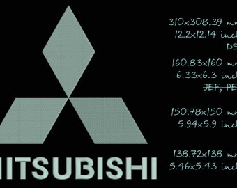 Mitsubishi logo, machine embroidery designs, instant skachivanivanie, size 4re