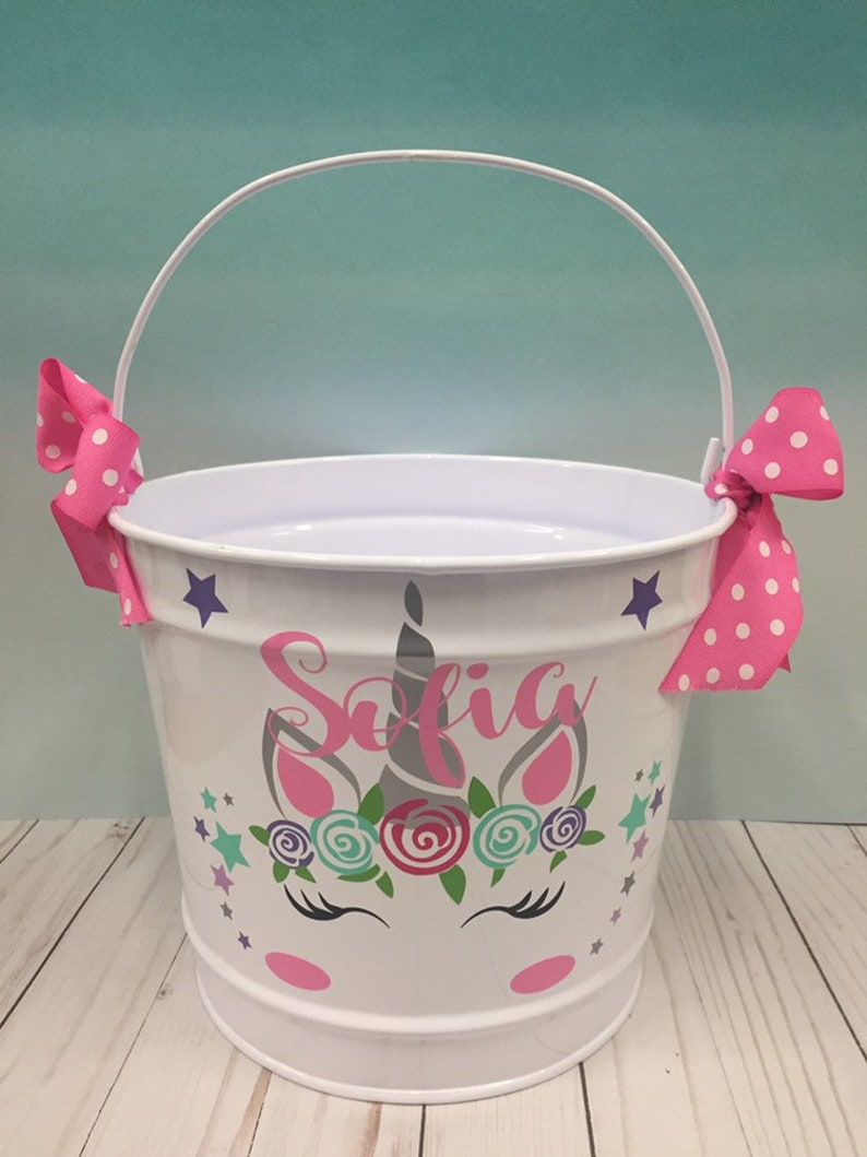 Personalized Easter Paint Your Own Canvas Bunny or Unicorn Easter Basket Filler