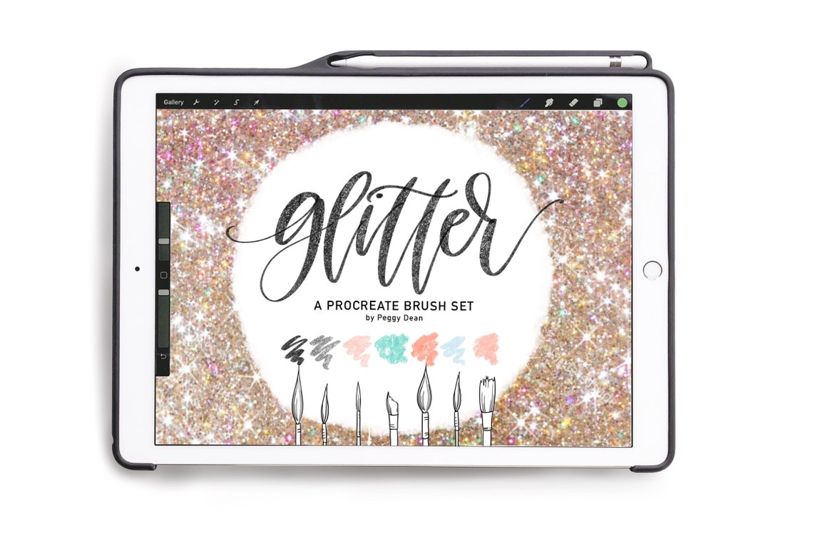 Glitter Procreate Brush BUNDLE  7 Custom Sparkly Procreate image 0