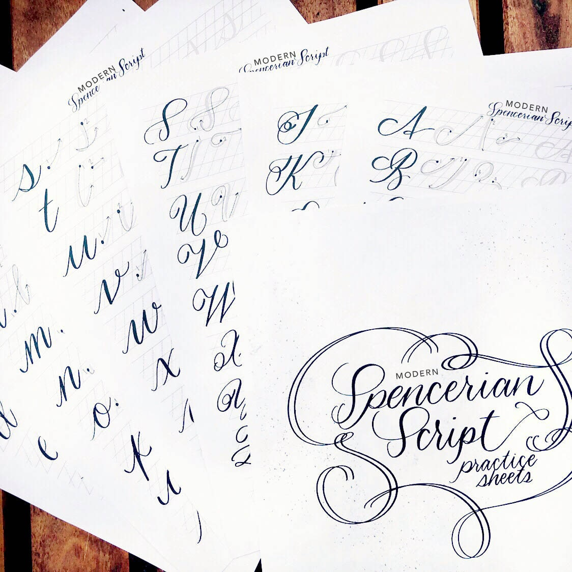 New Modern Spencerian Script Guide Hand Lettering And Etsy