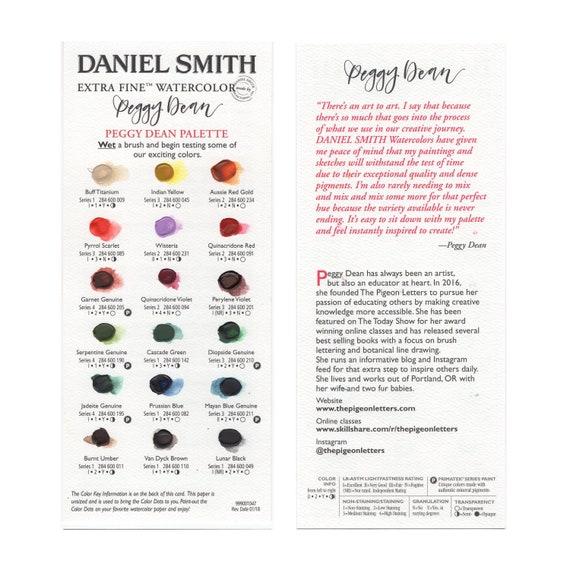 Daniel Smith X Peggy Dean Dot Chart Watercolors Primatek Etsy