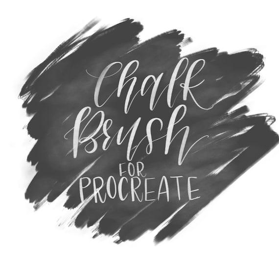 chalk brush pen for procreate ipad pro etsy