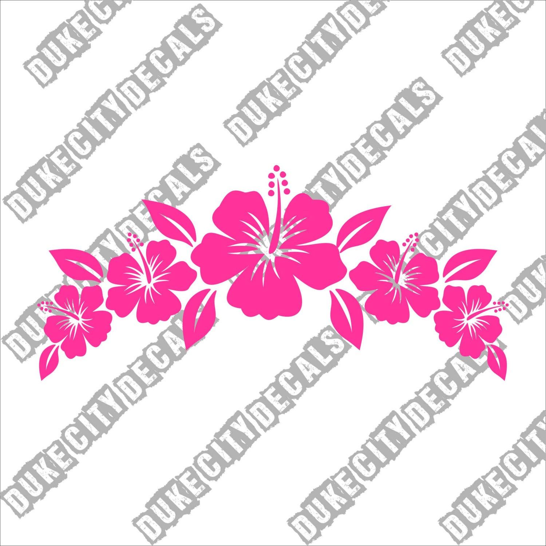 Hibiscus flower arch crown vinyl decal sticker hawaii etsy hibiscus flower arch crown vinyl decal sticker hawaii tropical flower decal izmirmasajfo
