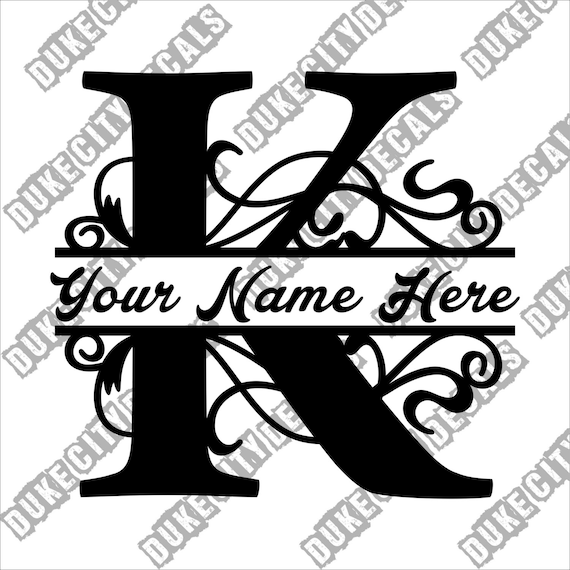 "initials name 5/"" LETTER /""S/"" vinyl decal car truck window laptop sticker"
