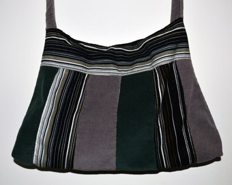 Corduroy handbag patchwork style
