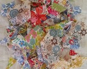 Liberty material + other material  (A full jam jars worth of Liberty scraps ) RESERVED  FOR BUNTY