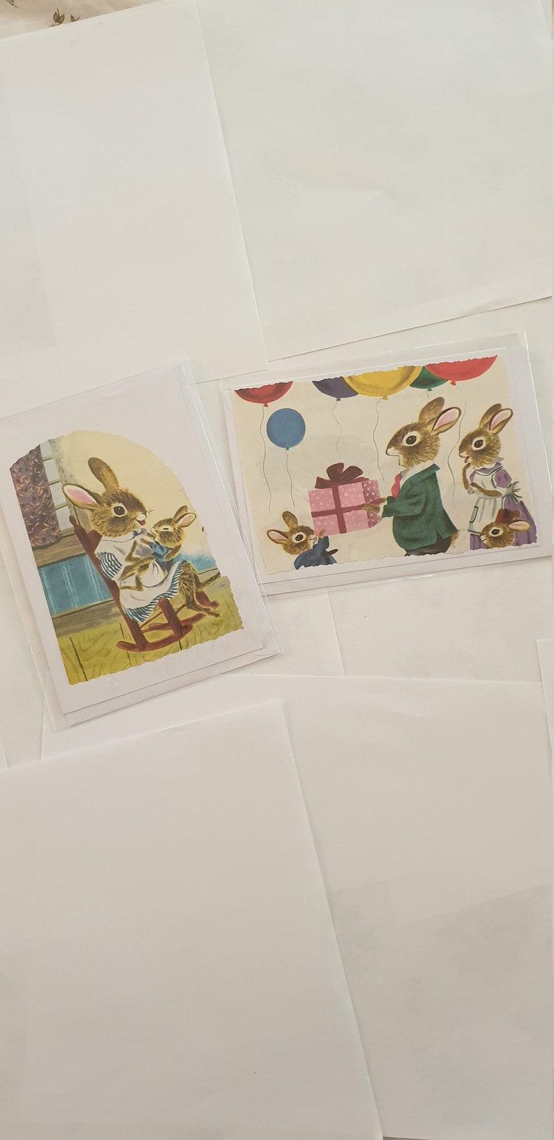 Vintage rabbit family