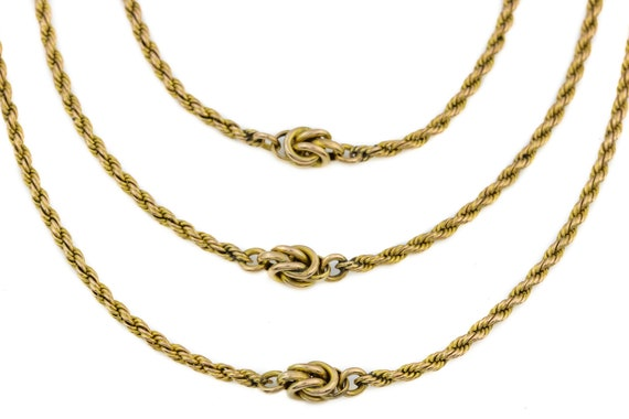 9ct Gold Victorian Multi-layer Statement Necklace,