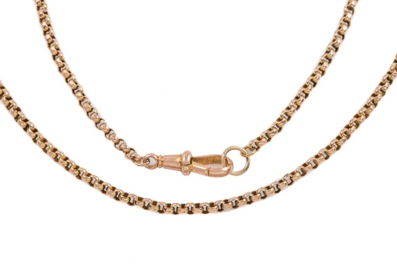 "Victorian Gold Faceted Belcher Chain, 32"" (10.7g)"