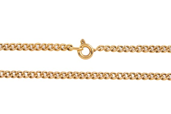 """Victorian Gold Curb Chain, 19"""" (6.9g) - image 5"""