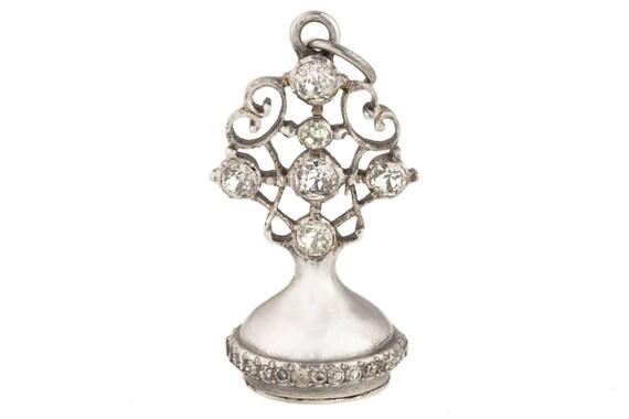 19th Century Silver Paste Fob