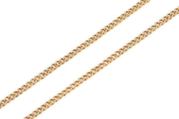"""Victorian Gold Curb Chain, 19"""" (6.9g) - image 3"""