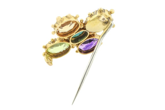 Georgian 18ct Gold Harlequin Brooch - image 4