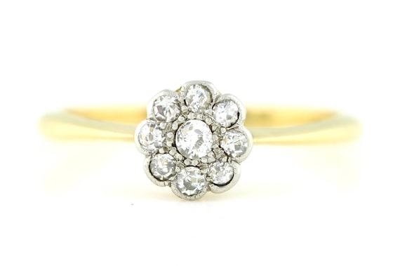 5121d1f5c1712 Edwardian Diamond Cluster Ring c.1905
