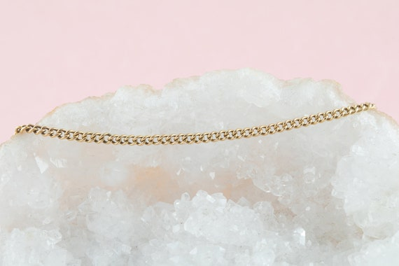 """Victorian Gold Curb Chain, 19"""" (6.9g) - image 8"""