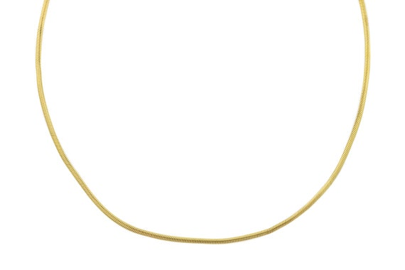 "Antique 18ct Gold Snake Chain Necklace, 18.5"" (8.7"