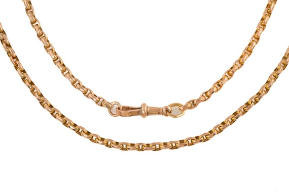 "Victorian Gold Faceted Belcher Chain, 22"" (12.4g)"