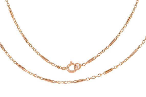 """Victorian Gold Paperclip Chain, 21 & 3/4"""" (4.7g)"""