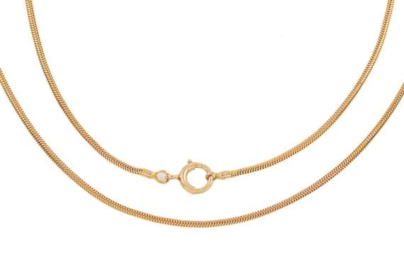 "Victorian Gold Skinny Snake Chain, 16"" (5.8g)"