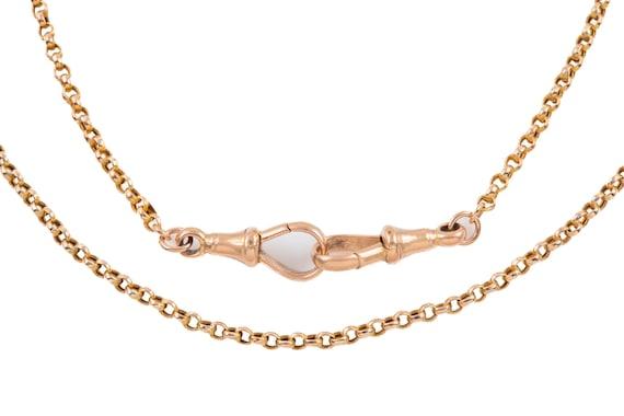 """Victorian Gold Belcher Chain, 20"""" (6.9g)"""