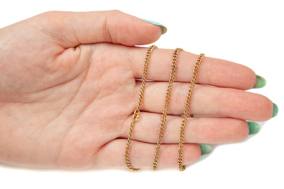 """Victorian Gold Curb Chain, 19"""" (6.9g) - image 4"""