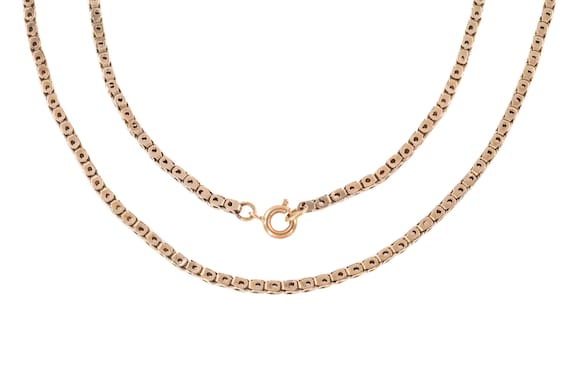 "Victorian Pierced Gold Chain, 22"" (7.3g)"